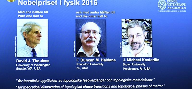 Fizikai Nobel-díj az anyag szokatlan állapotának tanulmányozásáért