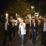 A Corvinusért tüntettek az LMP-sek