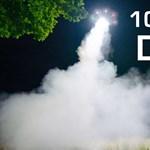 Ritka látvány: 1000 wattos fénnyel repül egy drón – videó