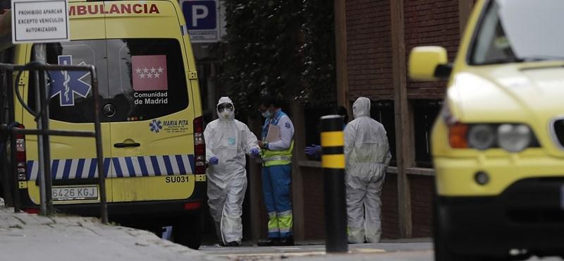 Koronavírus: egy nap alatt 655-en haltak meg Spanyolországban