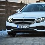 Teszteltünk egy E-osztályú Mercedest, ami annyiba kerül, mint egy Skoda Superb