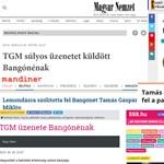 TGM: Utóirat Bangónéhoz