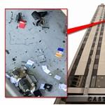 Bútorokat hajigált valaki a 17. emeletről