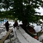 Helyszíni jelentés: a túl gyors apadástól tartanak Kismaroson