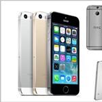 Itt a nagy csapat: iPhone 5s vs. Galaxy S5 vs. HTC One (M8)