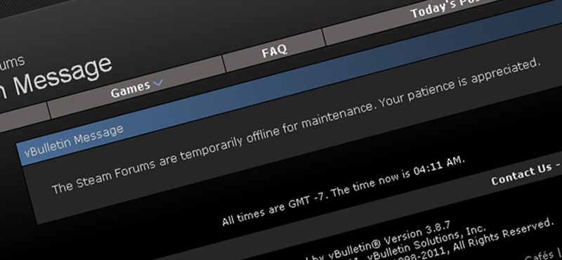 Feltörték a Steam fórumot?
