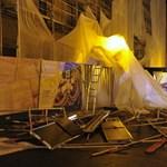Vizsgálják, miért dőlt el az állvány a Pénzügyminisztérium épületénél