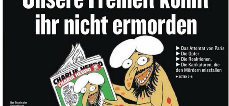 Fotók: Címlapjukkal tüntetnek a Charlie Hebdo mellett a lapok