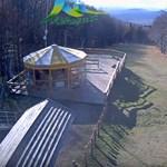 Kékestetőn havazott – videó