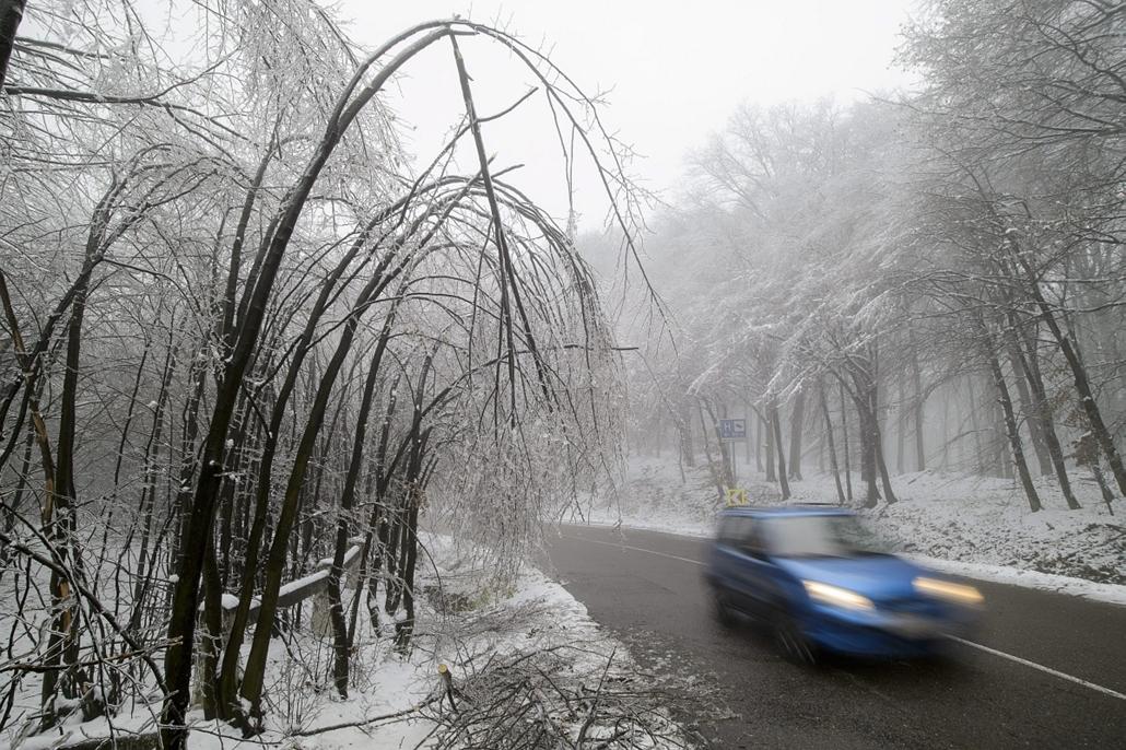mti. Ónos eső a Mátrában 2014.12.02. Mátraháza, tél 2014, jegesedés