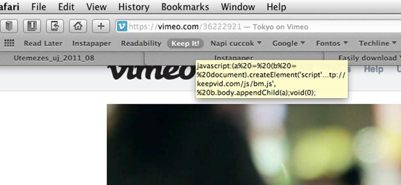 Íme a legegyszerűbb módja az online videók letöltésének, telepítés nélkül!