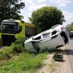 Fotók jöttek a Békés megyei halálos baleset helyszínéről