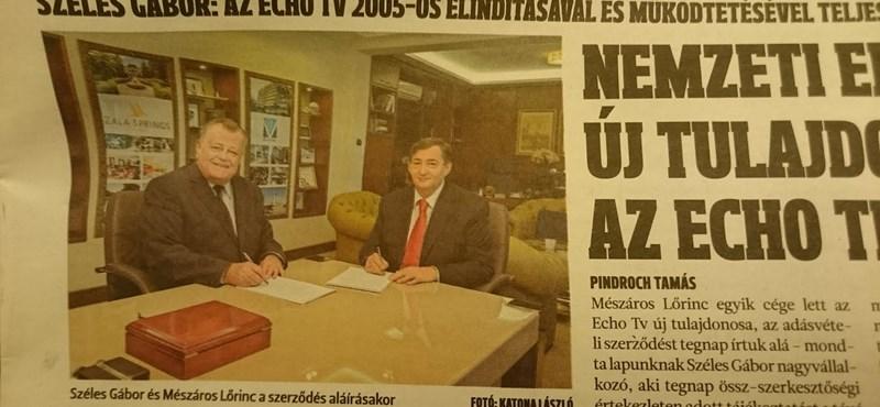 """""""Nemzeti erők egyesítése"""" - Mészáros Lőrincé lett az Echo Tv is"""