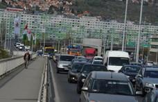 Súlyos baleset az Árpád hídnál
