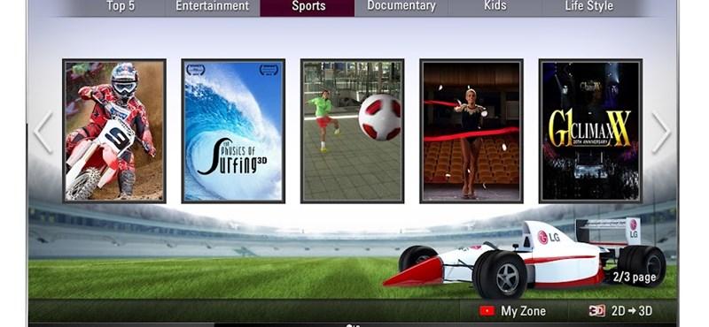 Itthon is elindult az LG ingyenes 3D World szolgáltatása!
