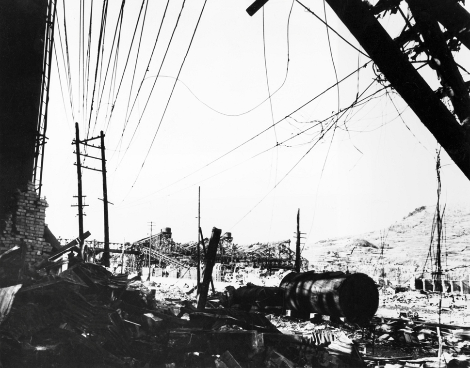 afp.1945. - Nagaszaki városa a bombázás után - atombomba 70, Nagaszaki, Nagasaki, Hirosima, Hiroshima