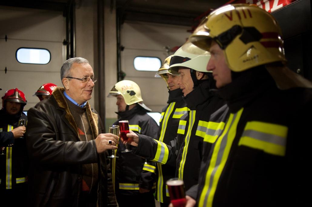 Bakondi György, tűzoltók, Újév, szilveszter 2014