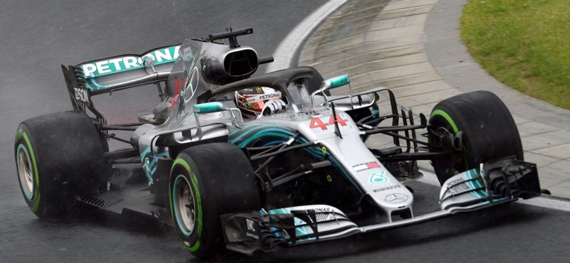 Hamiltonnak kedvezett az eső a Belga Nagydíj időmérőjén