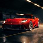 Szuperszéles lett a 840 lóerős legújabb Ferrari