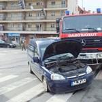 Tűzoltóautó karambolozott Zalagerszegen – fotó