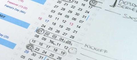 A szombati munkanapok listája 2014-ben
