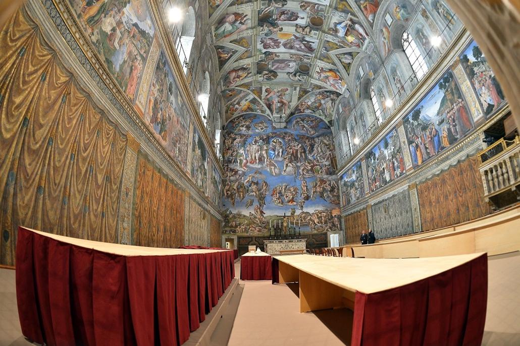 Sixtus-kápolna - pápaválasztás előkészületei - pavalko