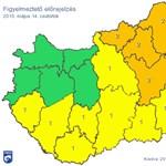Térkép: Özönvízszerű eső miatt adtak ki riasztást