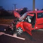 Fotók: 4 autót tört össze a részeg veszprémi suzukis