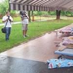 Leszakadó vakolattól sérültek meg kisgyerekek Miskolcon