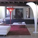 Hatalmas világító virágok - formabontó olasz lámpák