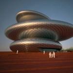 Ismét egy operaház, amiből kultikus építmény lehet. Gigantikus fémkavicsok
