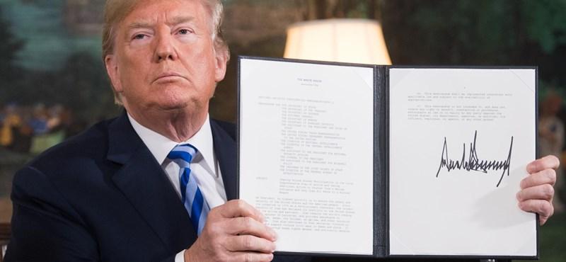 Trump: Az Egyesült Államok felmondja az iráni atomalkut