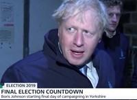Boris Johnson elbújt egy hűtőházban, hogy ne kelljen a tévéseknek válaszolnia