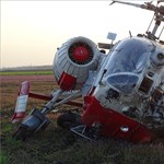 Rommá tört egy helikopter Körösladánynál – fotók