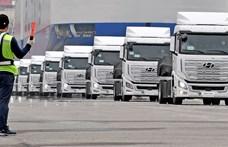 Elindulnak Európába a Hyundai hidrogénkamionjai
