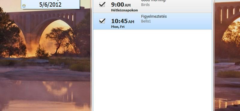 Egyszerű, de jól használható ébresztőóra alkalmazás a Windowshoz!