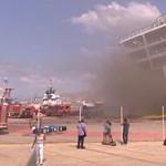 Tűz ütött ki egy görög kompon