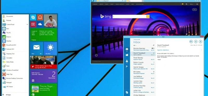 Windowst használ? Itt az év híre, visszatér a Start menü
