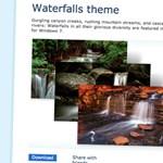 Fantasztikus fotók vízesésekről, Windows 7 témaként