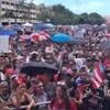 Több ezren tiltakoztak San Juan utcáin a kormányzó lemondását követelve