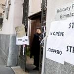 Videó: Erős üzenetek és ellentüntetés is volt a sztrájk alatt