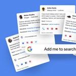 Ha valaki rákeres önre a Google-ben: névjegykártyákat vezet be a Google