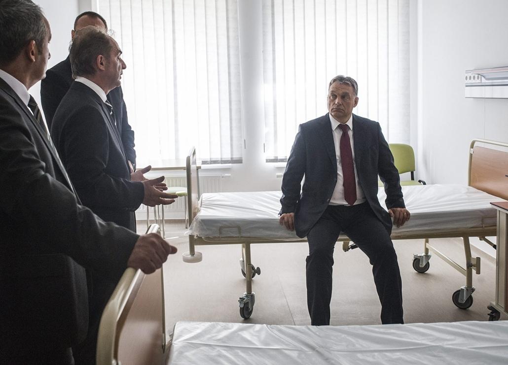 mti.14.09.16. - A felújított bajai Szent Rókus Kórház átadási ünnepsége - Orbán Viktor
