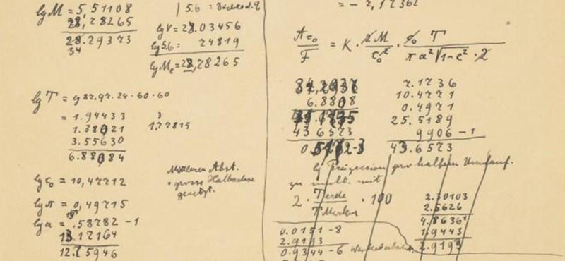 Mil millones de florines: estas 54 páginas son el manuscrito de Einstein más caro jamás ofrecido en una subasta