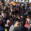 Magyar valóság: órákon át osztották az ételt a Blahán a rászorulóknak