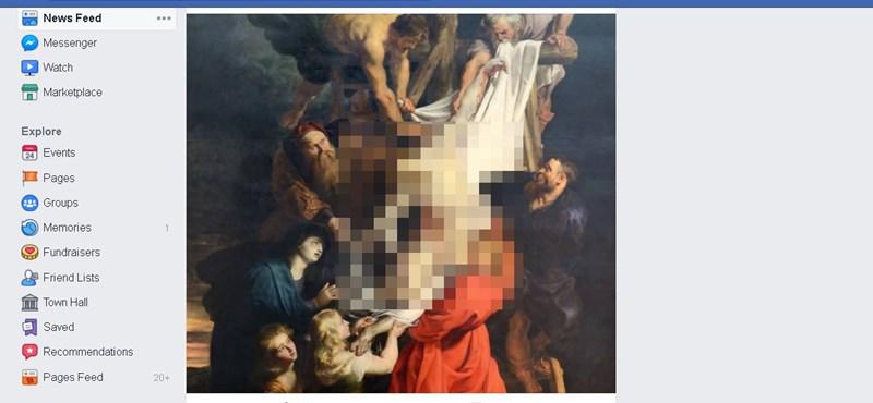 A Facebook tényleg kicenzúrázta Jézust, mert nem volt rajta ing