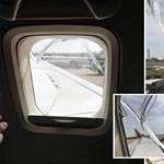10 000 méter magasan volt a repülőgép, amikor egyszer csak betört az egyik ablak
