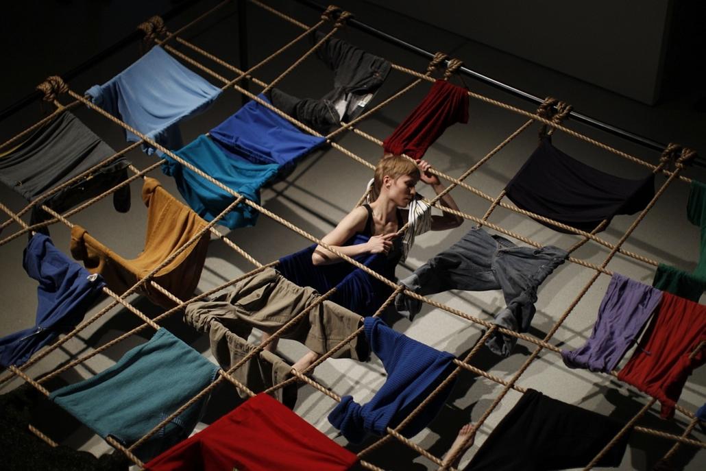 Trisha Brown - ''Floor of the Forest'' című darabjának sajtóbemutatóján Londonban.