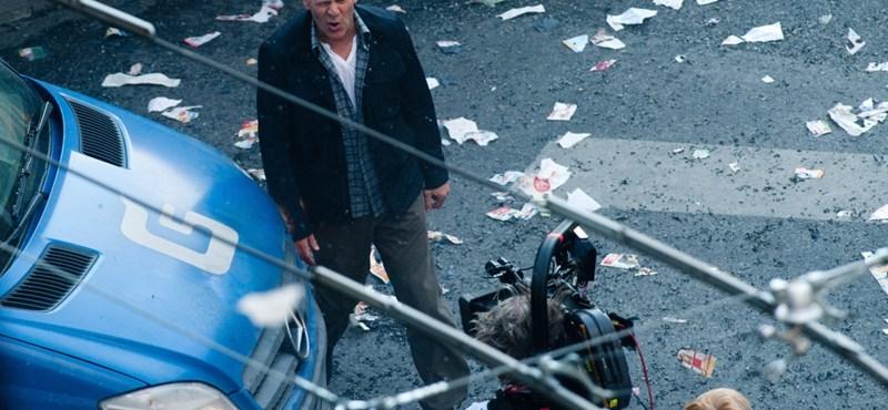 Bruce Willis ismét a belvárosban forgatott