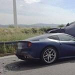 Ferrari F12berlinetta öklelt fel egy Audi Q5-öst - fotó